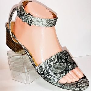 J Crew Womens Snakeskin Embossed Sandals J0790
